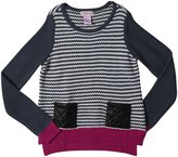 Design History Top with Pleather Pockets - Kitten Gray--Small