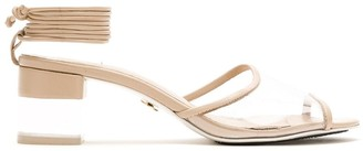 clear Andrea Bogosian leather sandals