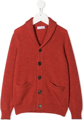 BRUNELLO CUCINELLI KIDS Button-Up Cashmere Cardigan