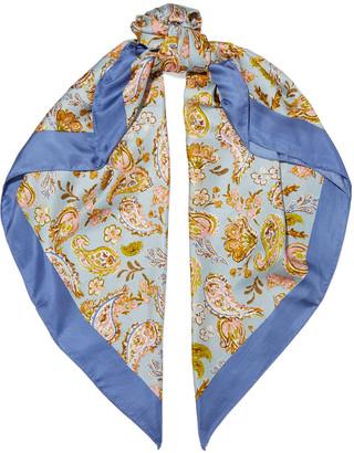 Chan Luu Printed Silk-twill Scarf