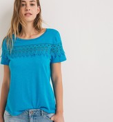 Promod T-shirt with crochet detail