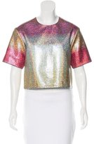 Marco De Vincenzo Degradé Metallic Crop Top w/ Tags