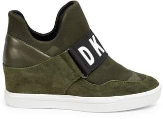 DKNY Logo Wedge Sneakers