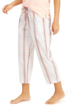 Charter Club Cotton Capri Pajama Pants, Created for Macy's