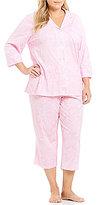Lauren Ralph Lauren Plus Paisley Jersey Capri Pajamas