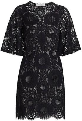 See by Chloe Short-Sleeve Lace Mini Dress