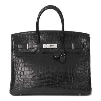 Hermes Birkin 35 Black Crocodile Handbags