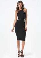 Bebe Cutout Waist Dress