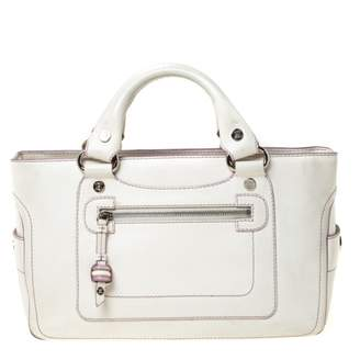 Celine Boogie White Leather Handbags