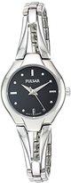 Pulsar Quartz Brass Dress Watch, Color:Silver-Toned (Model: PRS663X)