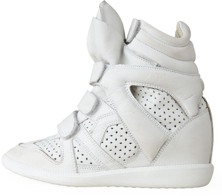 Isabel Marant Brian Distressed Leather Sneaker