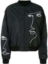 Moschino cornely embroidered bomber jacket