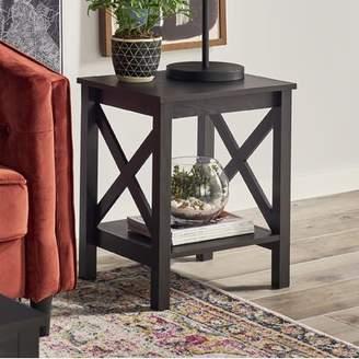 ClosetMaid X-Frame End Table Color: Black Walnut