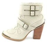 Kensie Womens Hamlin Leather Pointed Toe Ankle Motorcycle Boots.