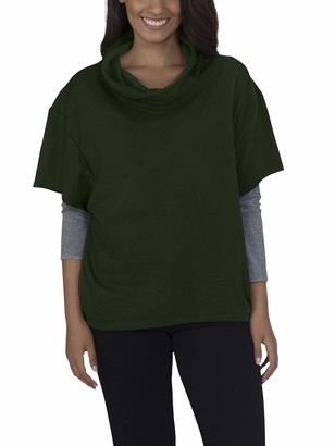 Fruit of the Loom Womens Essentials Over The Top Cowl Neck Pullover