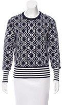 Tory Sport Intarsia Merino Wool-Blend Sweater