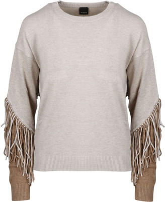 Pinko Coperto Shaved Sweater With Fringes