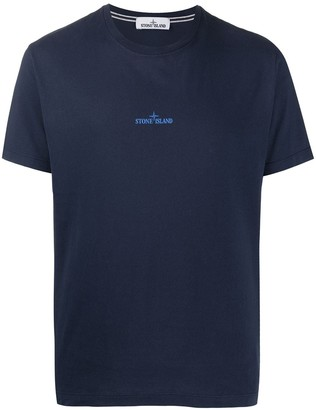 Stone Island logo graphic print T-shirt