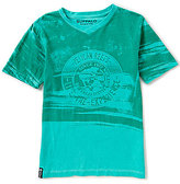 Buffalo David Bitton Big Boys 8-20 Teripe V-Neck Short-Sleeve Tee