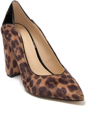 Nine West Aileen Faux Fur Leopard Print Pump