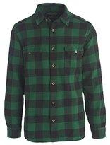 Woolrich Men's Long Oxbow Bend Plaid Flannel Shirt