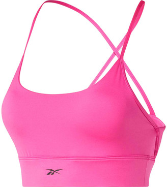 Reebok Womens Workout Ready Tri Back Sports Bra