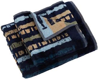 Carrara - Kalum Towel - Blue - Guest & Hand Towel Set