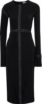 Thierry Mugler Hook-detailed Stretch-twill Midi Dress