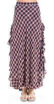 Max Studio Plaid Long Skirt