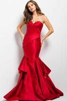 Jovani 37539 Pleated Sweetheart Trumpet Dress