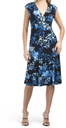 Cap Sleeve Printed Floral Ity Julie Dress