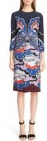 Mary Katrantzou Butterfly Print Crepe Dress