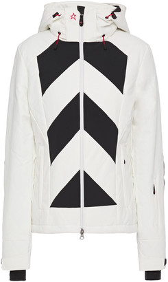 Perfect Moment Tignes Quilted Striped Hooded Padded Ski Jacket