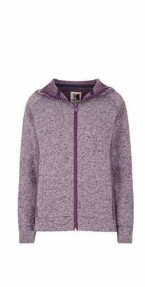 Weird Fish Dania Soft Knit Hooded Jacket Purple Magic Size 10