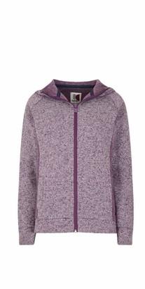 Weird Fish Dania Soft Knit Hooded Jacket Purple Magic Size 16