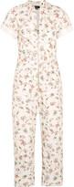 Isabel Marant Talma Floral-print Cotton Jumpsuit - Ecru