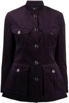 Temperley London velvet fitted jacket