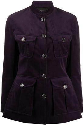 Temperley London Velvet Fitted Jacket