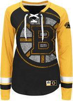 Majestic Women's Boston Bruins Hip Check Long Sleeve T-Shirt