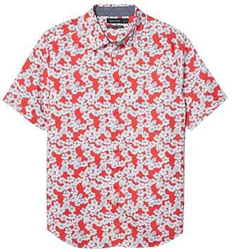 Nautica Casual Woven Shirt (Red) Men's Clothing