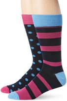 English Laundry Men's 2 Pack Triangle Dot Crew Sock