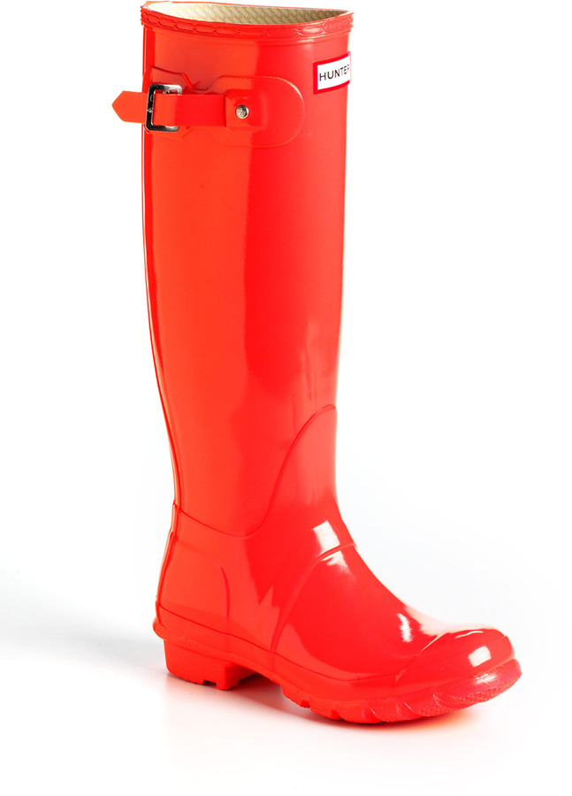 Hunter Tall Glossy Rain Boots