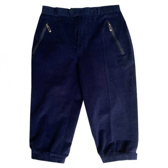 Fusalp Navy Cotton Trousers for Women