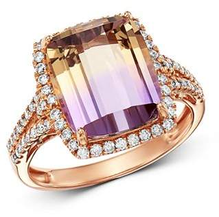Bloomingdale's Ametrine & Diamond Cocktail Ring in 14K Rose Gold - 100% Exclusive