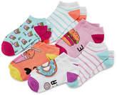 Arizona Girls 6 Pair No Show Socks-Big Kid