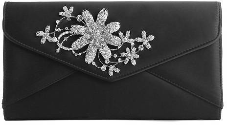 Townsend Lulu Satin Brooch Clutch