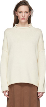 LAUREN MANOOGIAN Off-White Bateau Rollneck Sweater