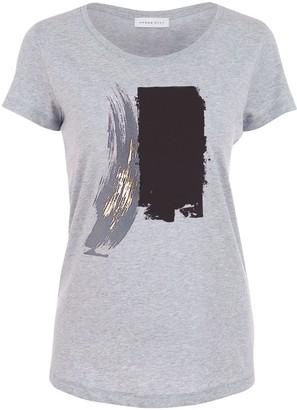 Urban Gilt Maltby Grey Gold Paint Stroke T-Shirt
