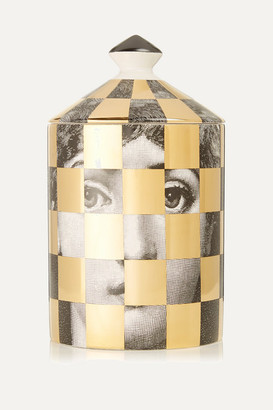 Fornasetti Scacco Otto Scented Candle, 300g - Gold