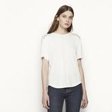 Maje T-shirt with ladder stitching